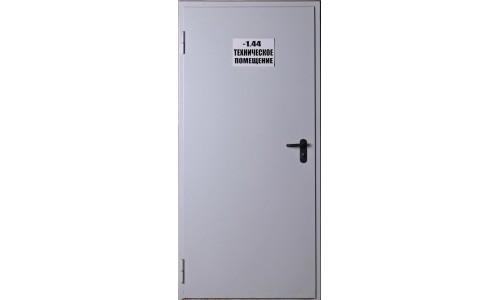 Противопожарная однопольная дверь без остекления ДПМ-01/60К