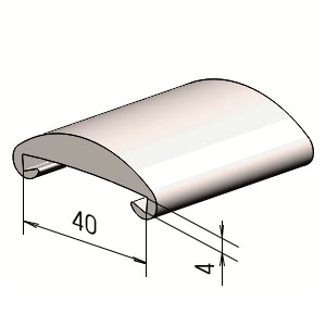 Поручень на перила П 40х4