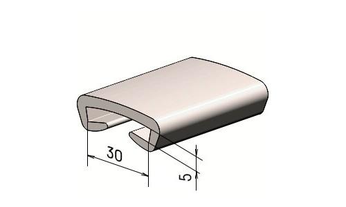 Поручень на перила ПЛ 30х5