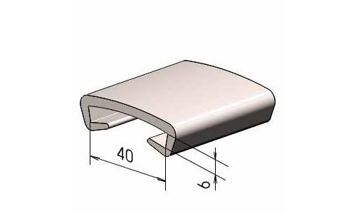 Поручень на перила ПЛ 40x6