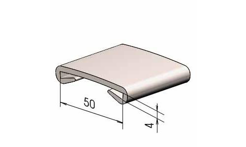 Поручень на перила ПЛ 50х4