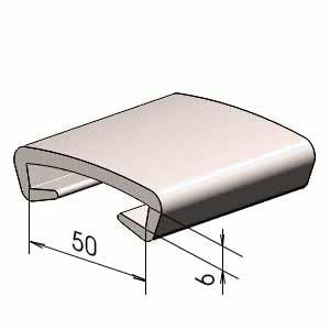 Поручень на перила ПЛ50х6