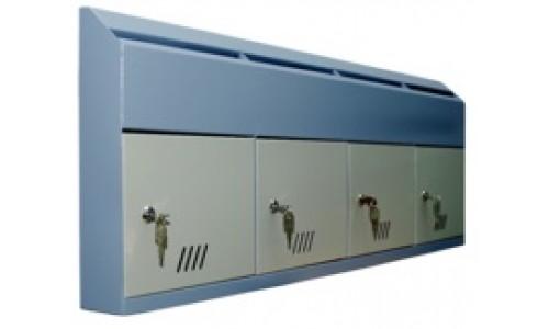 Ящики почтовые горизонтальные ШАП (г) 4 секции