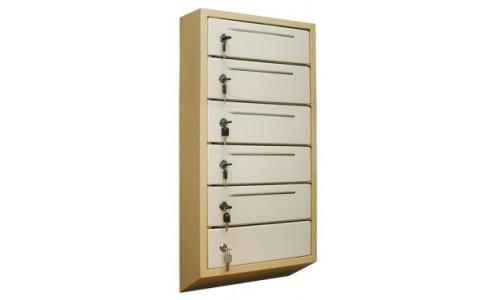 Шкаф почтовый антивандальный ШАП (т) 5 секций с прорезью